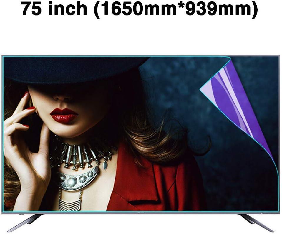 N / A File Protector/Ojo Ultra Libre de protección de la Pantalla Anti-Azul de la luz 75 Pulgadas LED TV Protector - derrames de petróleo de Anti-Huella Digital/Reducir la Fatiga o.: Amazon.es: