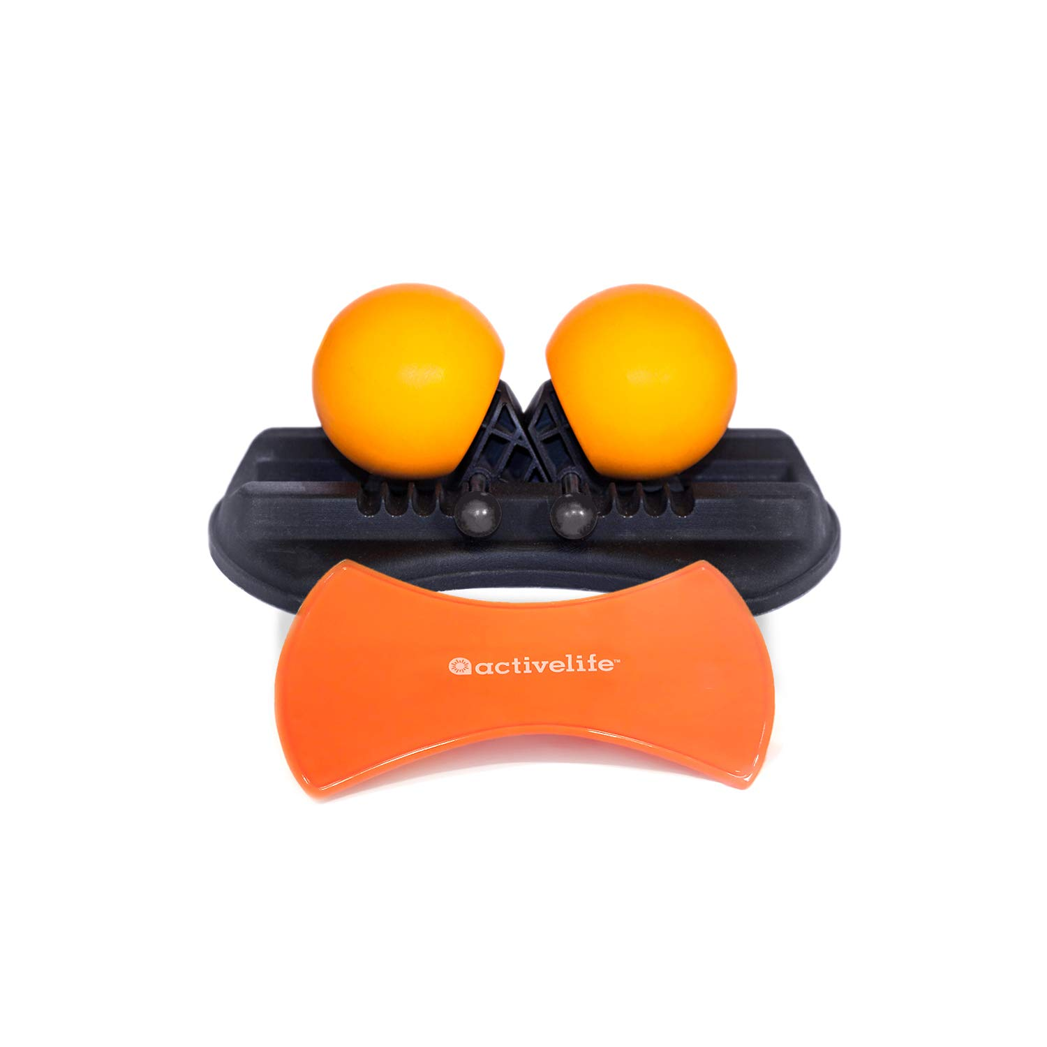 Highballer Twin Massage Balls with Mounting Pad - Adjustable Massage Balls Targets Trigger Points and Self-Myofascial Release (SMR) on Head Neck Shoulders Arms Back Hip Thighs & Legs by HighRoller