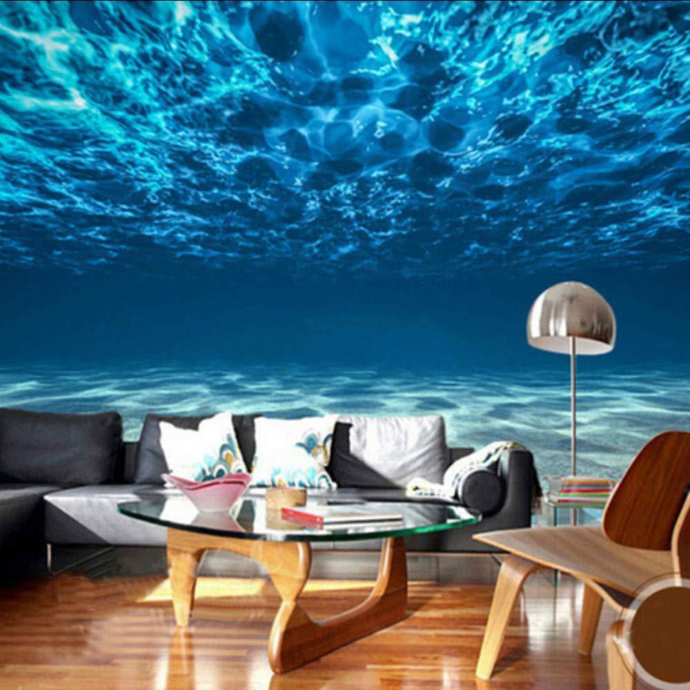 Amazon Com Dalxsh Photo Wallpaper 3d Stereo Blue Seawater Mural