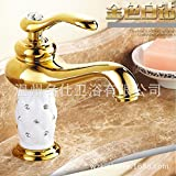 Furesnts Modern home kitchen and Bathroom Sink Taps Continental noble Basin gold white drill Basin Mixer Taps Bathroom Cabinets Bathroom Sink Taps,(Standard G 1/2 universal hose ports)