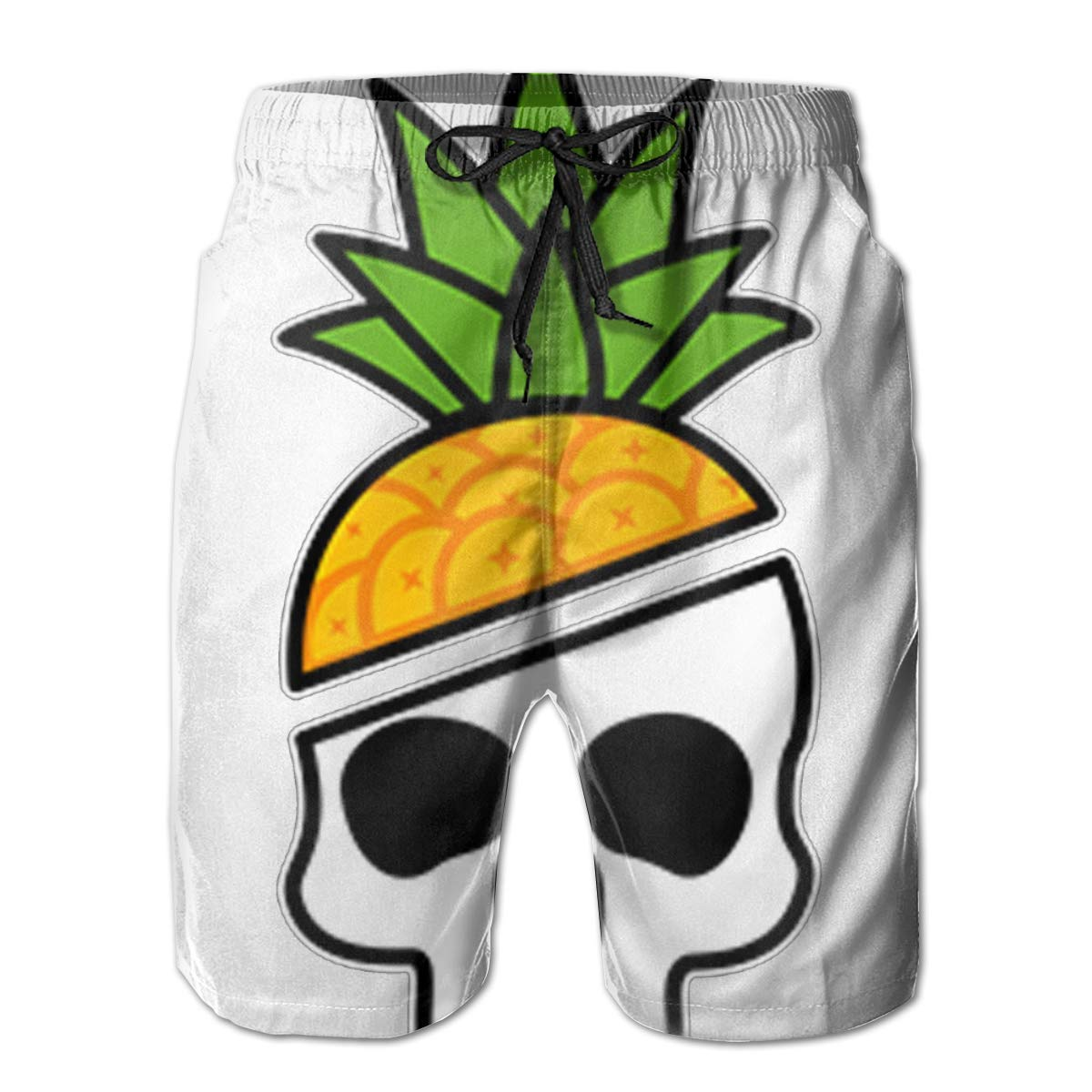 Reality And Ideals Pineapple Skull Mens Swim Trunks Board Shorts