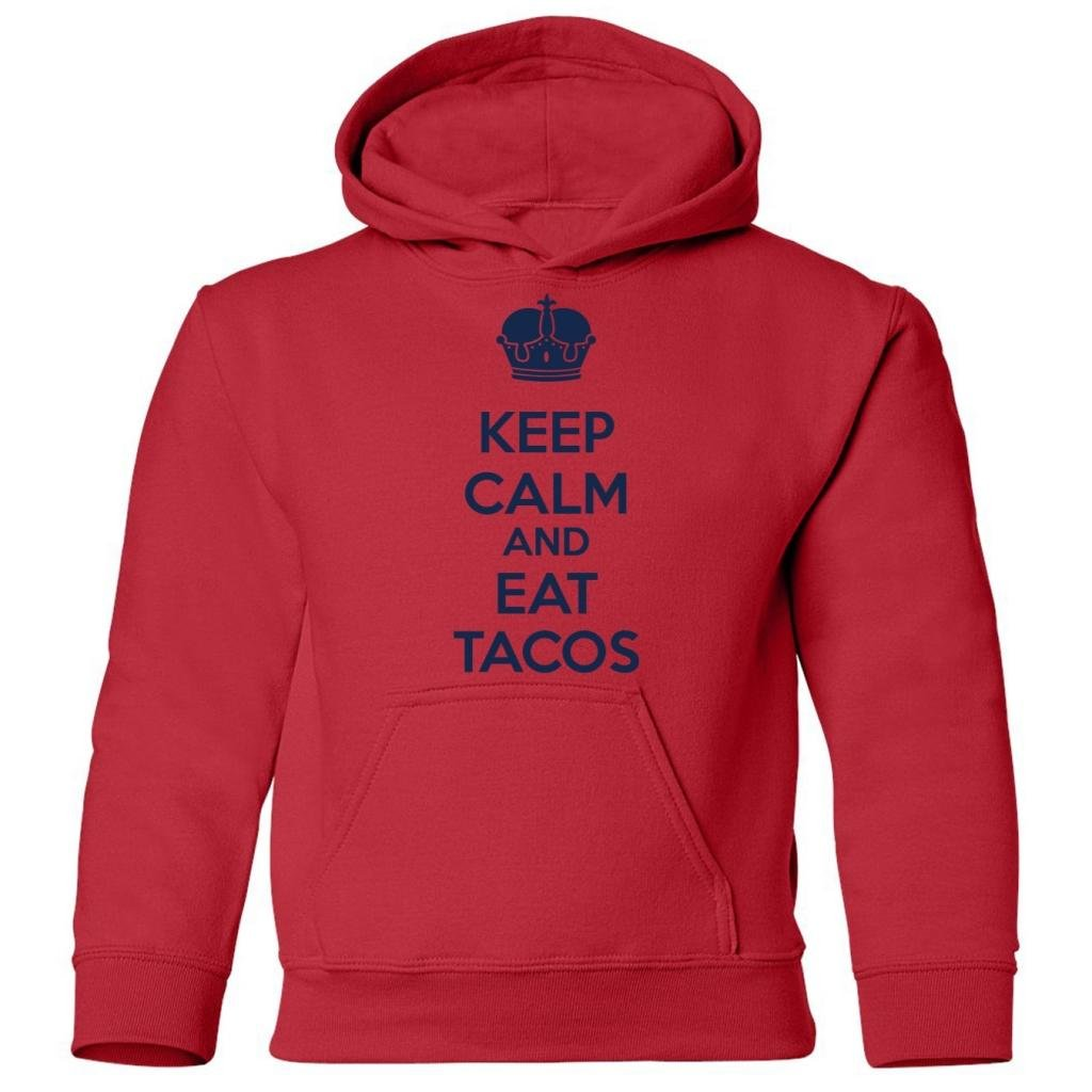 Tasty Threads Big Boys Keep Calm And Eat Tacos Kids Hooded Sweatshirt