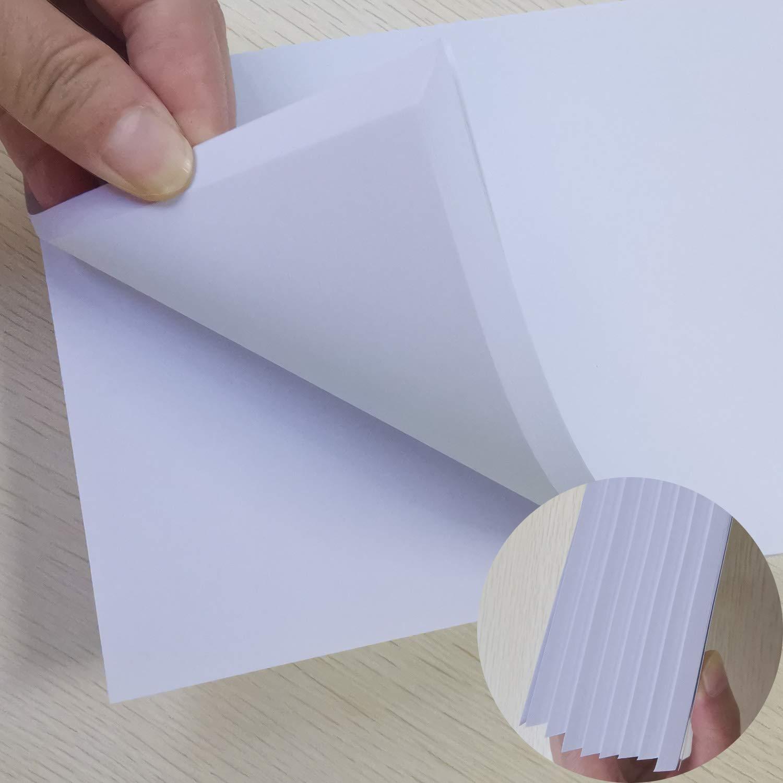 cuaderno de escritura bloc de notas almohadillas para ara/ñazos 400 hojas 8 libros Multifuncional Bloc de notas de blanco 26x18cm