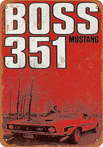 Wall-Color 7 x 10 Metal Sign - 1971 Ford Mustang Boss 351 - Vintage Look