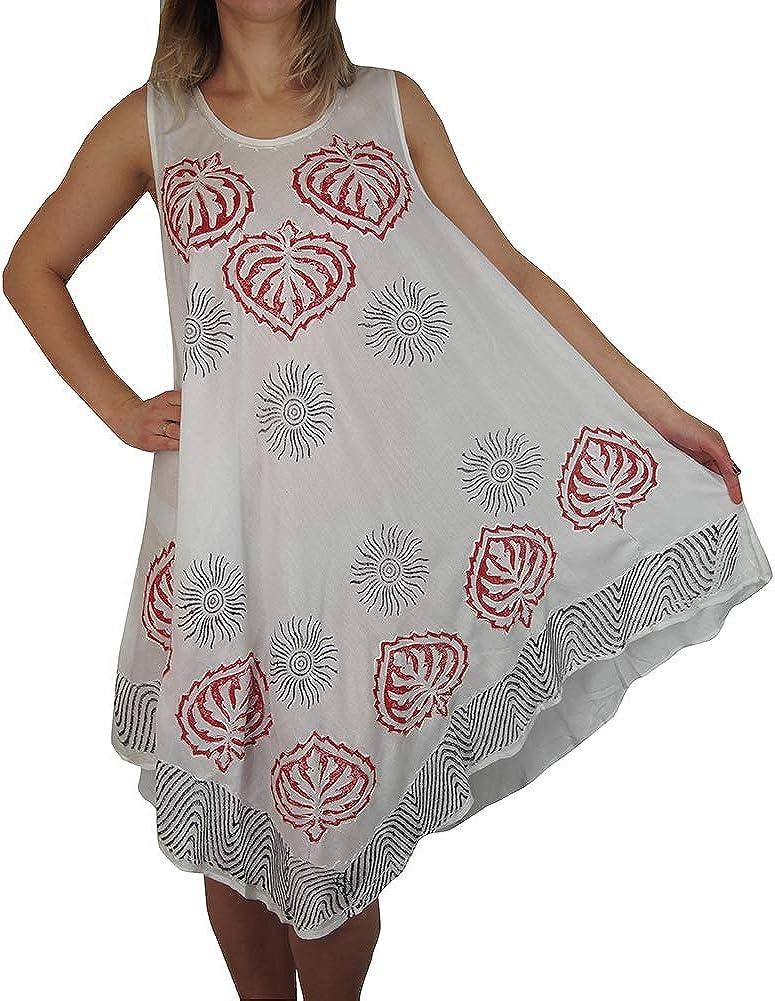 Ladies Womens Summer Floral Dress Umbrella Cut Sleeveless Top Tie Dye Maternity