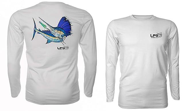 95cb46ae Sailfish Hunt Long Sleeve Fishing Shirt for Men and Women UPF 50 Dri ...