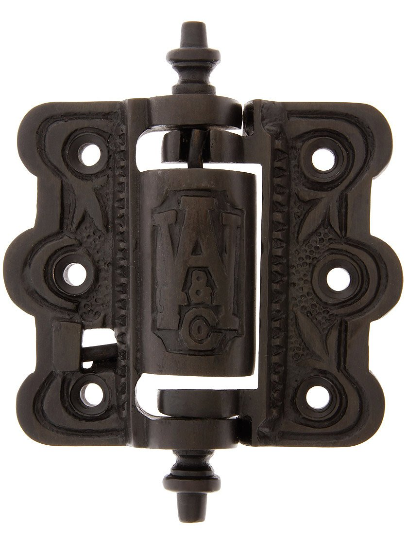 House of Antique Hardware R-06SE-0700481 Decorative Cast Brass Screen Door Hinge with Acorn Finials in Oil Rubbed Bronze