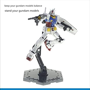 2 Pieces Action Figure Base Stand For 1//144 1//100 HG//RG Gundam Statue Model