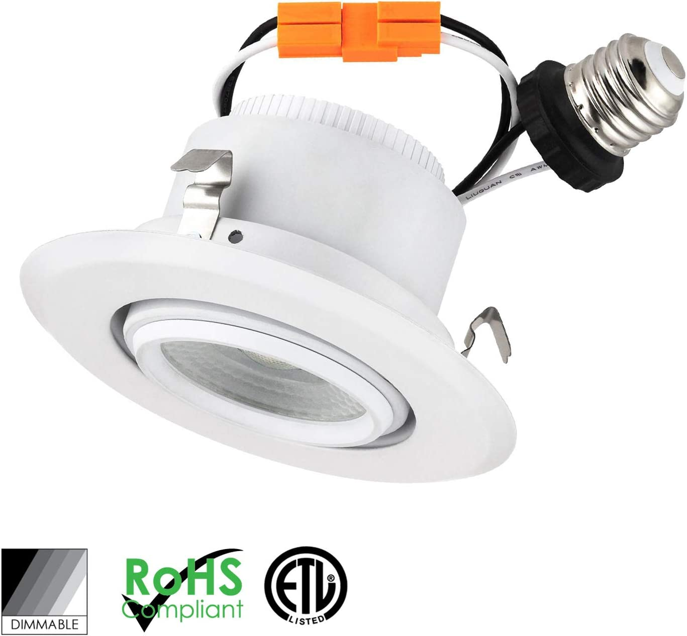 Satco S39713 7 watt LED Downlight Retrofit; 4; 2700K; 120 Volts; Dimmable Replaces S29713 16-Pack