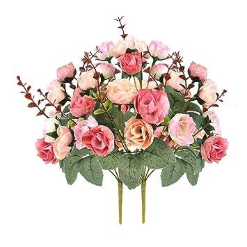 Weimi Kunstliche Seide Kleine Rose Gefalschte Blumen 7 Zweig 21