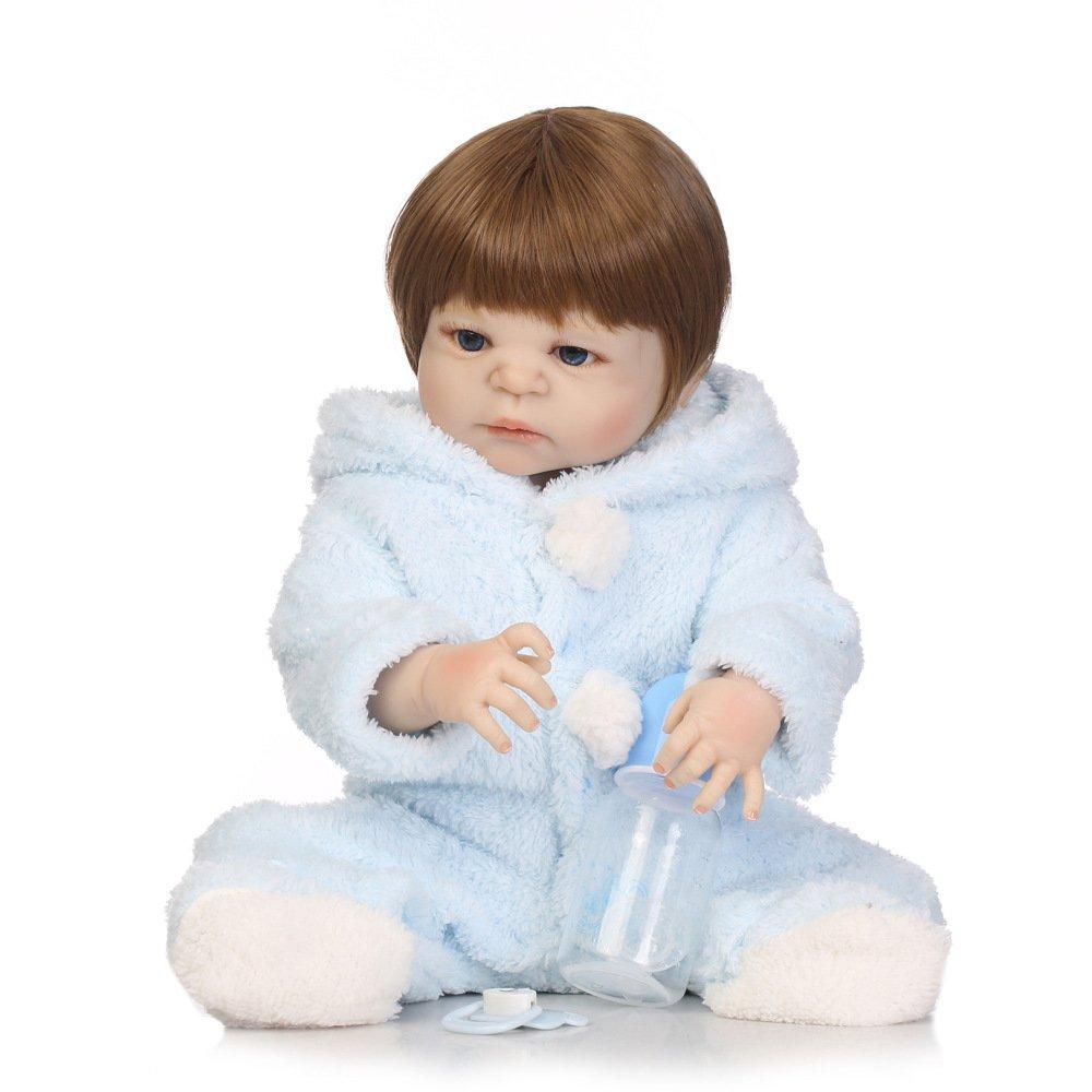 GHCX Süße Reborn Puppe der Silikon-Simulation Kann Das Wasserbegleiterspielzeugkinder Kreatives Geburtstagsgeschenk 57CM Eintragen
