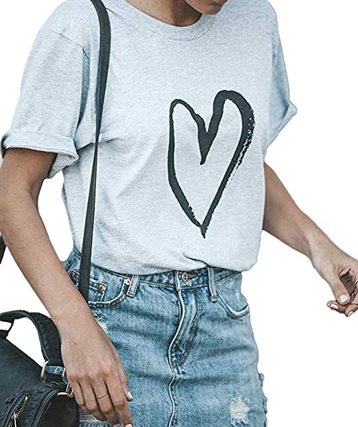 f75675ff Pineapple Heart Tee Shirt Funny Cute Graphic Tee Shirt for Women Teen Girls  Juniors Casual Graphic