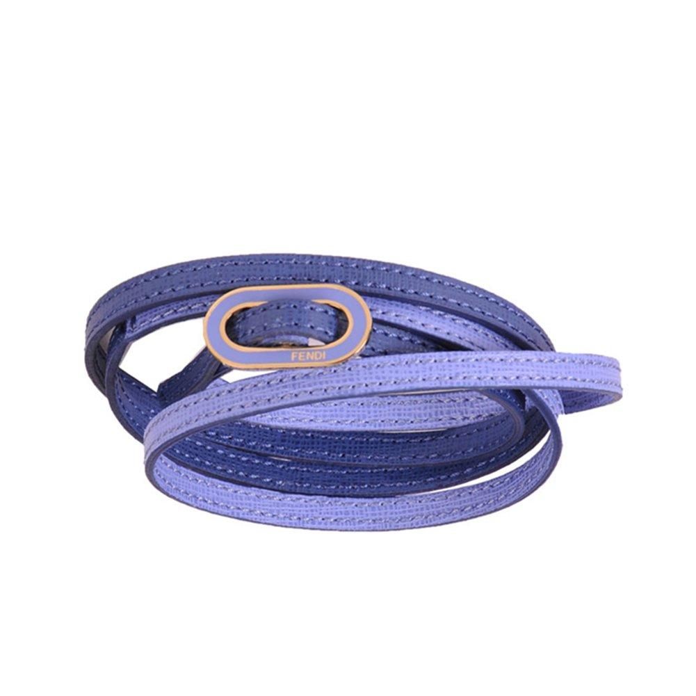 Fendi ''Crayons'' Leather Bangle Bracelet Blue Leather 8AG313