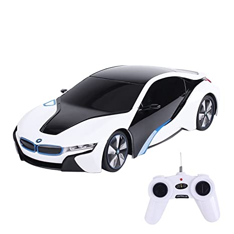 Amazon Com Chimaera Rc Bmw I8 White Remote Control Racing Car Toys