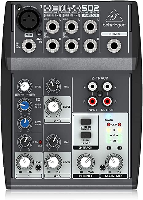 Behringer 502 - Mesa mezclas Xenyx Premium: Amazon.es: Instrumentos musicales