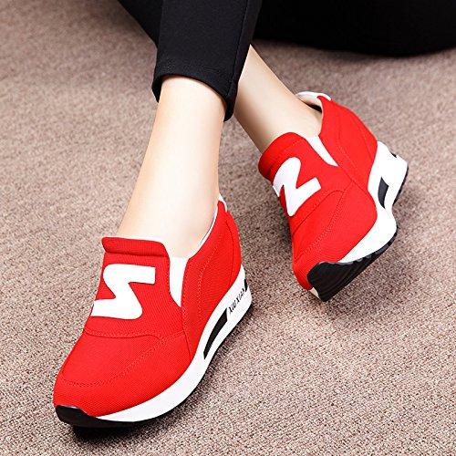 KHSKX-La Primavera Y El Otoño Más Zapatos Plana Zapatos Casuales Zapatos De Mujer Zapatos Todos Coinciden Con Doug. gules