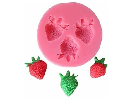 Moldes de silicona con diseño de fresa de la fruta, borde decorativo, molde,