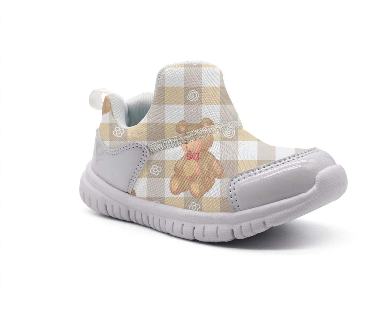 ONEYUAN Children a Teddy Bear with Kids Kid Casual Lightweight Sport Shoes Sneakers Walking Athletic Shoes