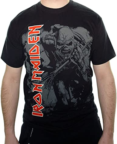 Camiseta de Iron Maiden High Contrast Trooper: Amazon.es ...
