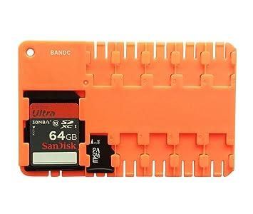 BANDC 2pcs Rojo Micro SD/SDHC/SDXC Tarjeta Soporte de Almacenamiento Llevar Pantalla Caso (Tarjetas de Memoria no incluida)