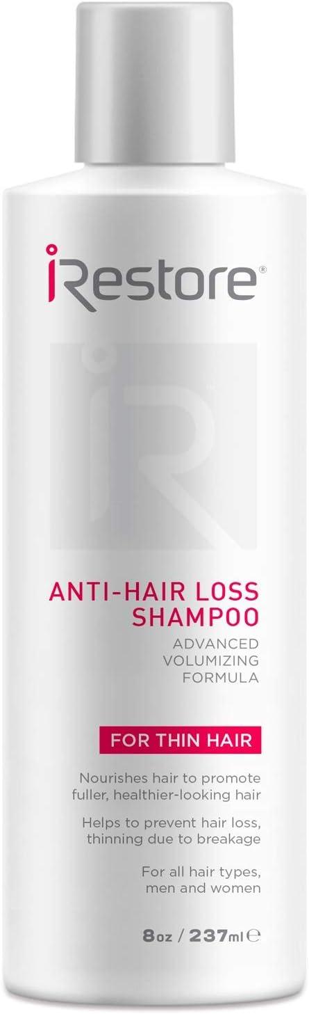 iRestore Anti-Hair Loss Shampoo - w/Castor Oil, Amino Acids, Aloe Vera, Antioxidants – Perfect for Hair Loss, Balding & Thinning Hair – for All Hair Types, Men and Women (8oz / 237ml)
