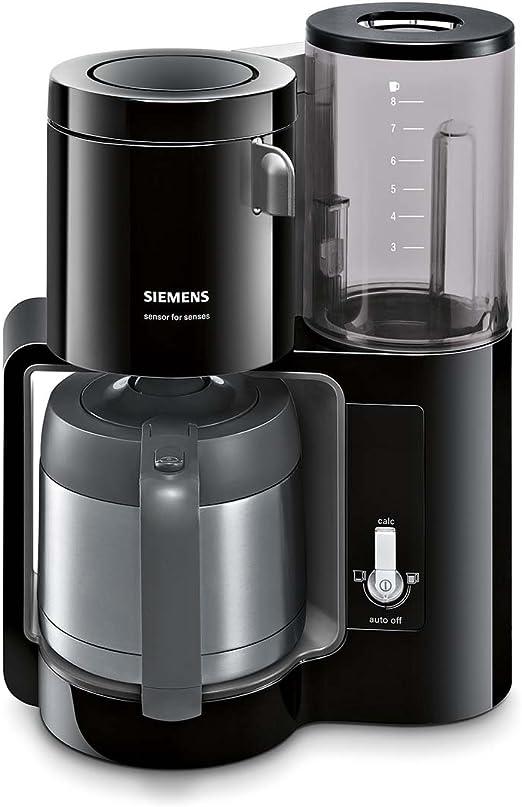 Siemens TC80503 - Cafetera de goteo (1100 W, 8 tazas), color negro ...