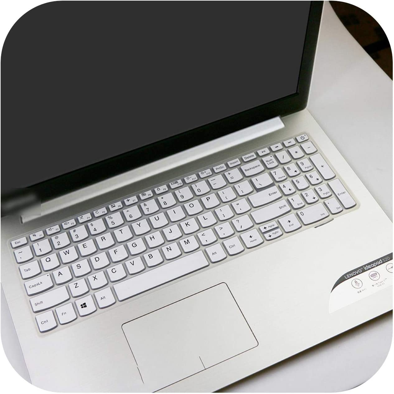2020 for Lenovo Ideapad S145 15Ast S145 15Iwl S145 14Ast 15Iwl 330 320 15.6 Inch Laptop Notebook Keyboard Cover Skin Protector-White