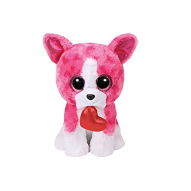 TY BEANIE BOOS 15cm ROMEO DOG pink gift idea peluche toy puppet VX315