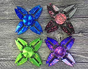 Inspirationc 2017 Creative Cool Star Painted Aluminum EDC Hand Fidget Finger Stress Desk Toy EDC ADHD Autism Gift for Adults and Kids by Inspirationc