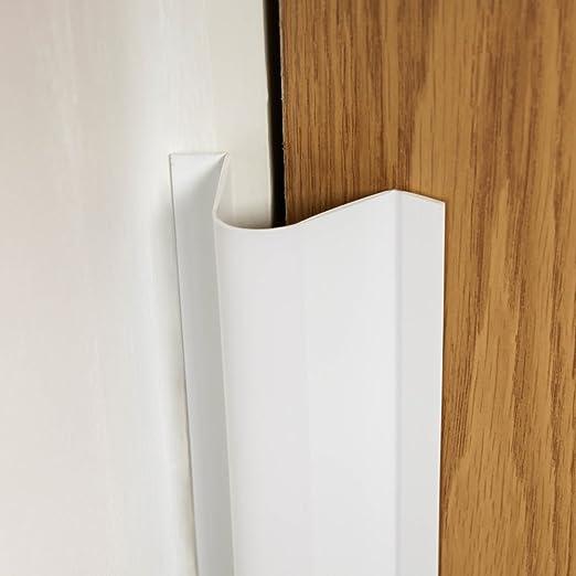 transparente transparente transparente Talla:Paquete de 2 Protector de bisagras para puerta de seguridad infantil Cardea