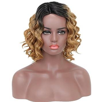 Pelucas rizadas hermosas de la mujer pelucas cortas rizadas del pelo de la fibra para Cosplay