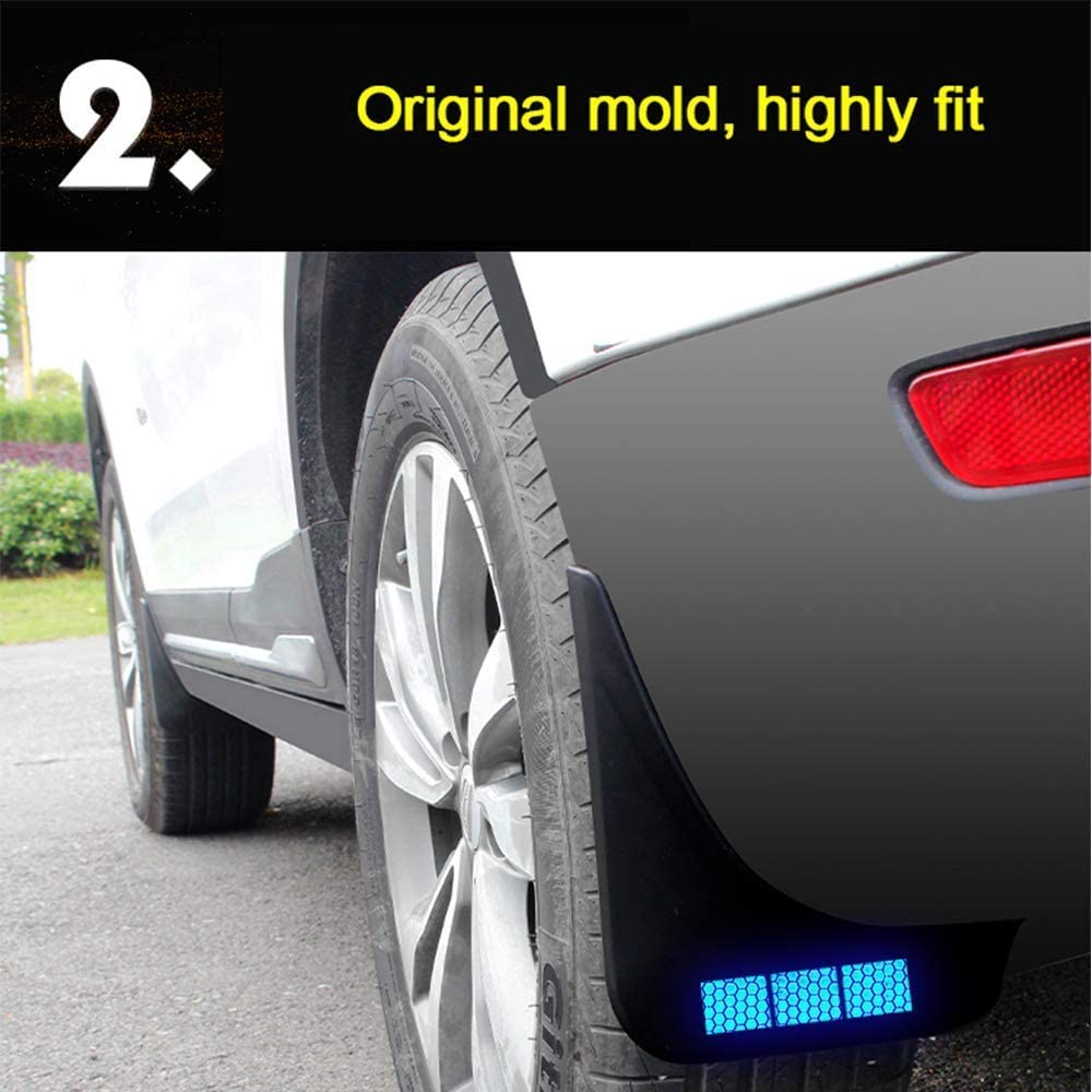 Reflective Car Mud Flaps Splash Guards for Audi A4 B8 2012-2015 Front Rear Fender Mudguard Protection Car Body 4Pcs Rhombus red