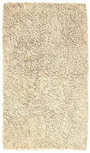 Pinzon 100% Cotton Looped Bath Rug with Non-Slip Backing - 30 x 50 inch, Ivory