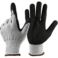 Keyzone Cut Resistant Work Gloves, Level 5 Safety Protective Gloves For Garden, Fishing, Work, Warehouse, Wood Cutting, Construction, Welder, Repairman