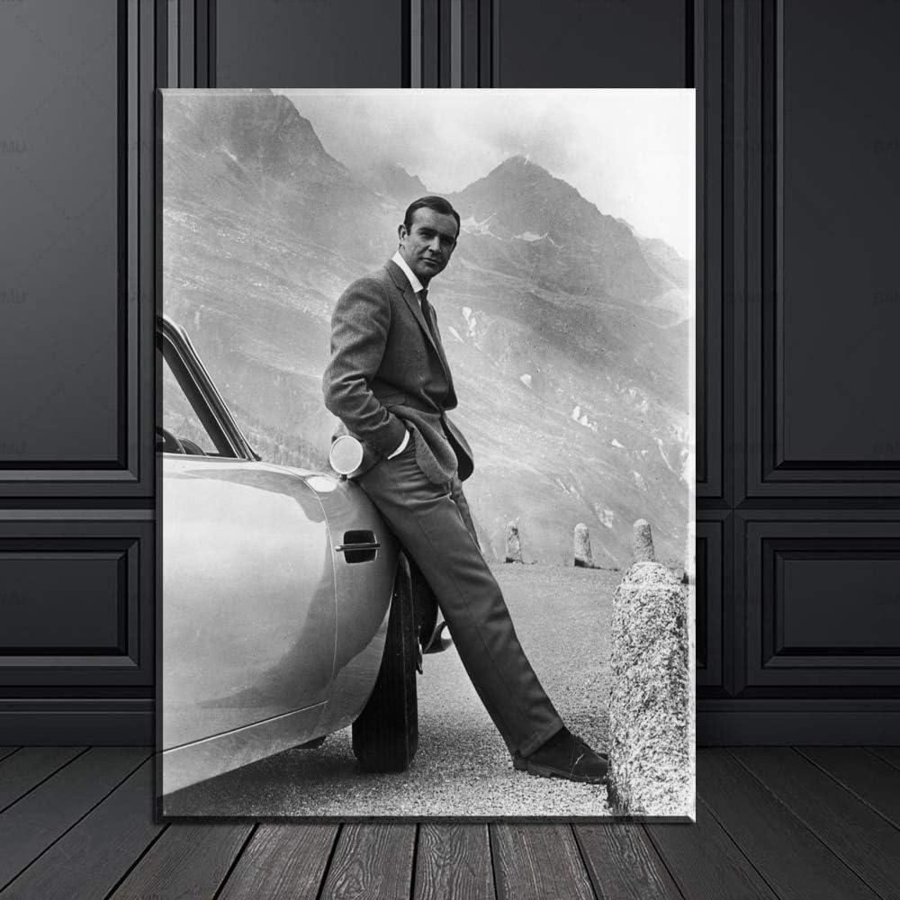 Goldfinger DIREKTFILM Kunstdruckplakat auf Leinwand f/ür Wanddekoration 20X30CM KEIN Rahmen 007 James Bond Goldfinger 1964 N // A Sean Connery