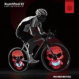 Fahrrad LED RGB Fahrradreifen Beleuchtung Bluetooth APP 192 LEDs IPX6 wasserfest für Reifen ab 26 Zoll