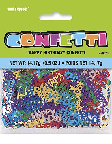 Unique Foil Happy Birthday Confetti -