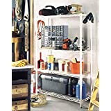 Garage Storage Unit w Utility Hooks - White