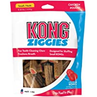 KONG - Ziggies™ - Teeth Cleaning Dog Treats - Chicken Flavour - Small (Best used with KONG Classic Rubber Toys)
