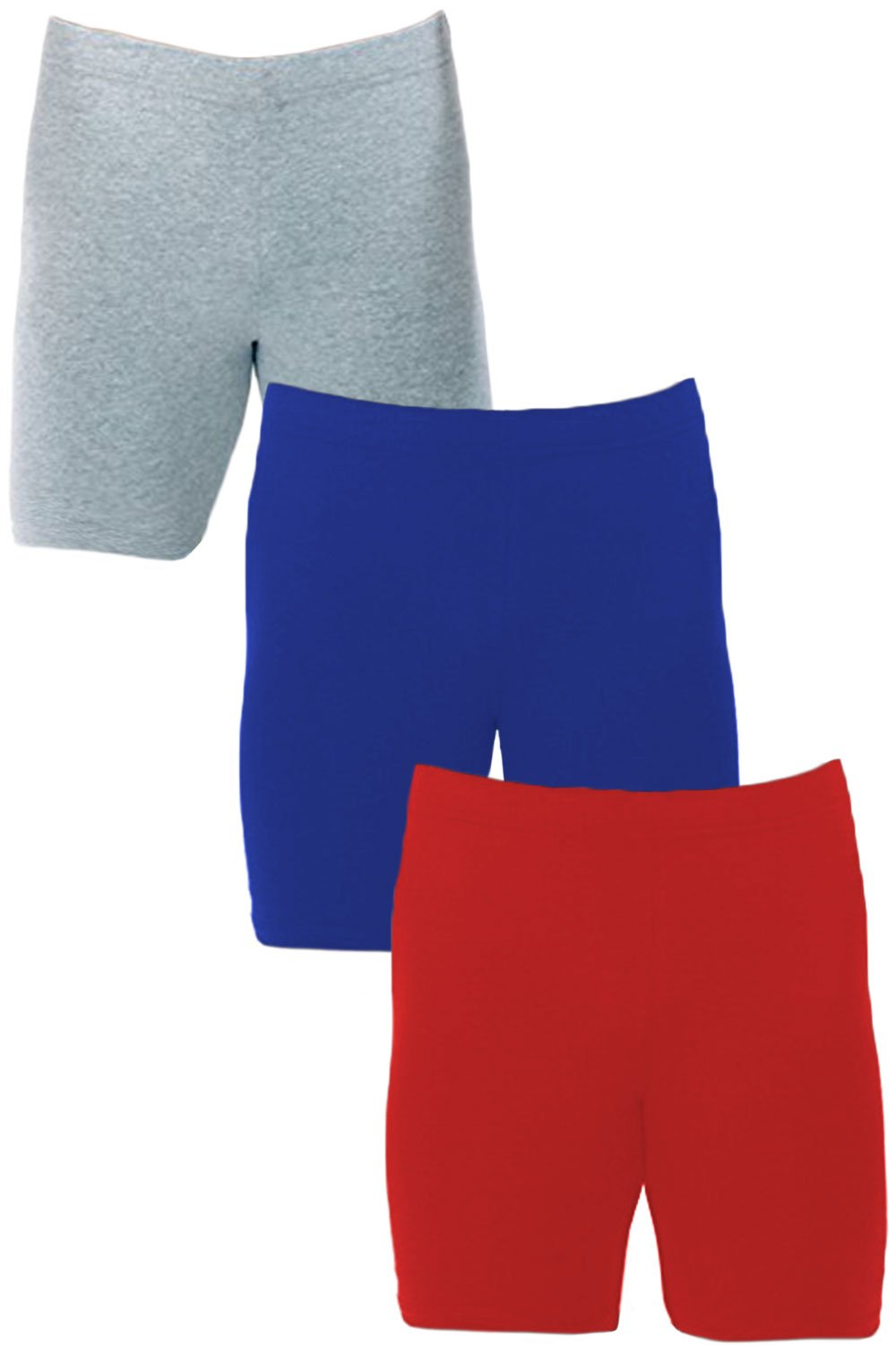 Men's Extreme Core-Champion True Double Dry Compression Short (Small, 3 Pack Grey/Red/Royal)