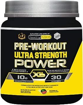 Pre-entreno ultra concentrado | Potente pre-workout con beta alanina + l-arginina AAKG + creatina + cafeína + taurina | Potencia el desarrollo ...