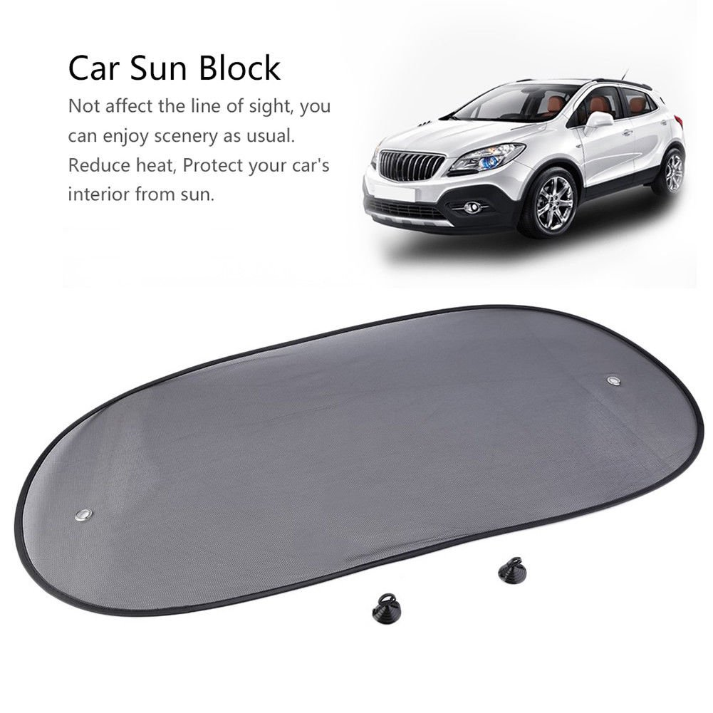 Techrace Car Windscreen Sun Shade, 2pcs Window Mesh Flexible Sun Visor Protects Baby Kids and Pets, Rear Side Window Made in China