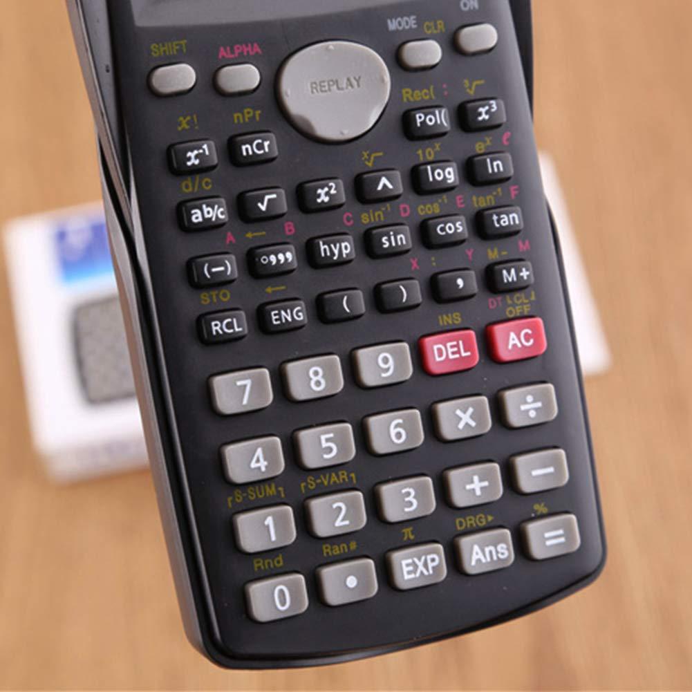 TAKEMORE7 Wissenschaftlicher Taschenrechner 2-zeiliger Multifunktionaler Taschenrechner Ingenieurrechner Hochschule Hochschule Hochschule Ingenieurwesen Buchhaltung Trigonometrie B/üro
