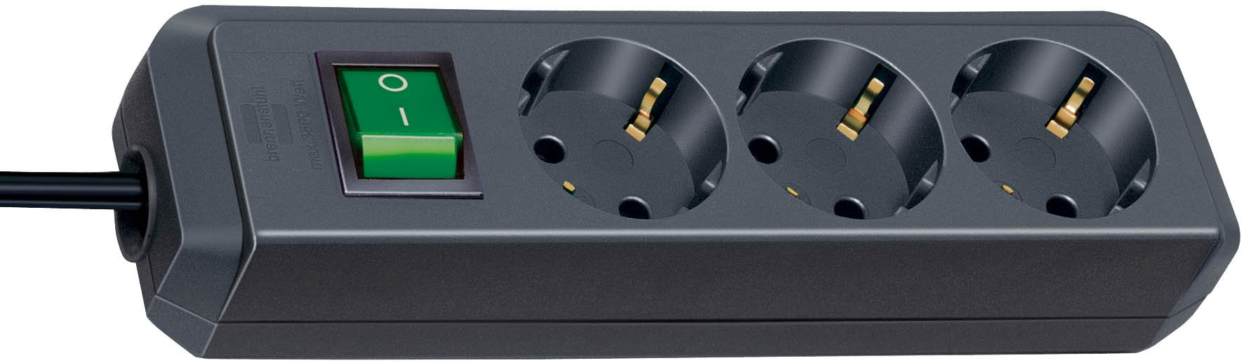 Brennenstuh 149906 - Regleta Eco con 3 tomas + interruptor, 1.5m, color negro product image