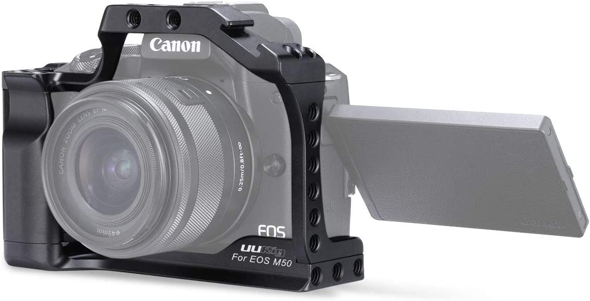 UURig C-M50 - Jaula de Metal para cámara Canon EOS M50 Vlog ...