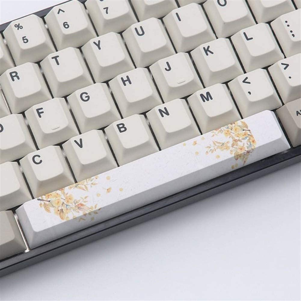 Man-hj Keyboard keycaps Spacebar Keycap Pbt 5.25U Contour Keyboard Keycap Dyed On Five Sides