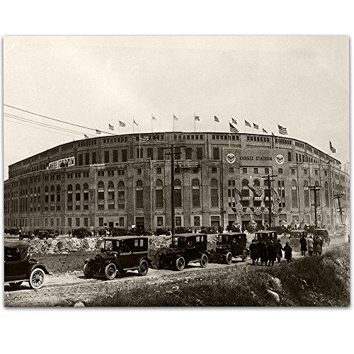 Vintage Yankee Stadium Photograph - 11x14 Unframed Print - Great Sports Bar Decor and Gift for Baseball Fans (Ny Yankees Diamond)