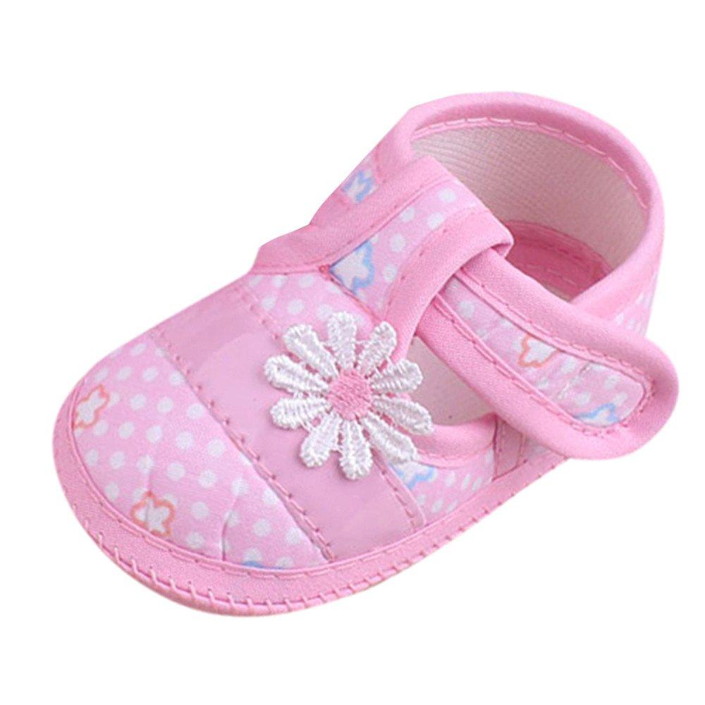 b73e11246cc07 Amazon.com  Lurryly Cute Baby Boys Girls FloralSandals Bow Soft Sole  Prewalker Toddler Shoes 3-9 M  Clothing