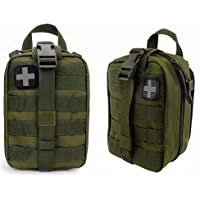 FIRECLUB Compact Tactical MOLLE Rip-Away EMT Medical First Aid Utility Pouch 1000D Nylon Carlebben for Hiking, Biking…