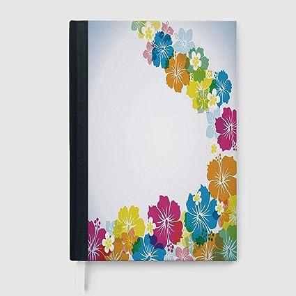 Amazon Com Luau Composition Book Notebook Vibrant Colorful